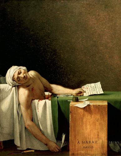 La mort de Marat, del pintor francés Jacques-Louis David.