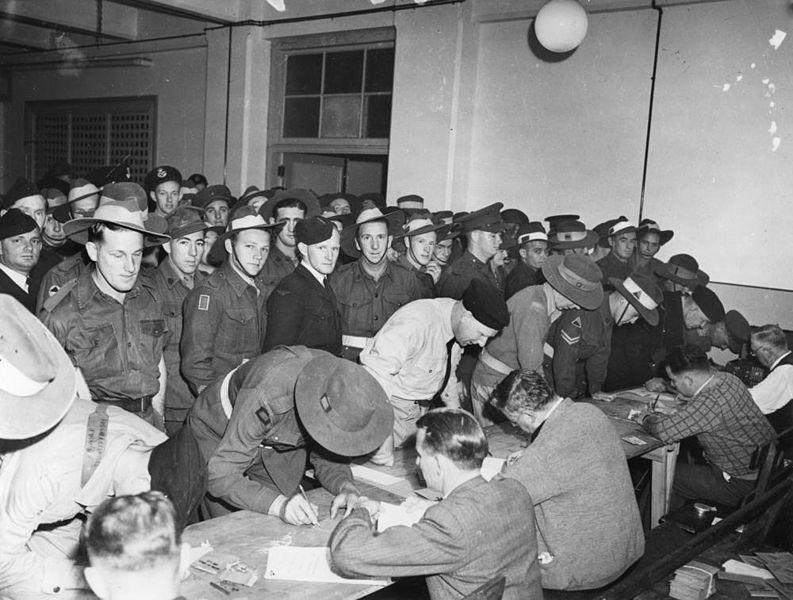 Referéndum en el ayuntamiento de Brisbane, 1944. Fuente: John Oxley Library.