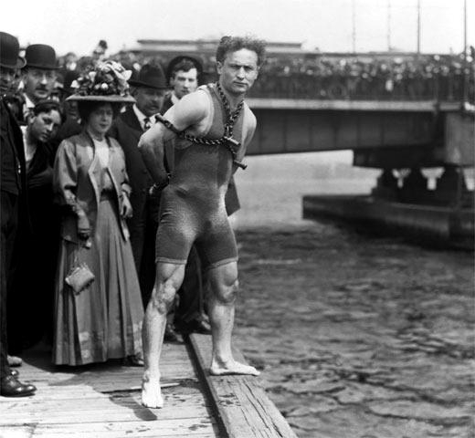 Harry Houdini. Foto: Corbis.
