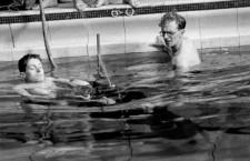 Pask durante un experimento de inmersión. Fotografía: Newcastle University