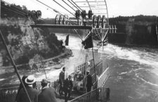 Inauguración del Spanish Aero Car. Fotografía: Niagara Falls Public Library (DP).