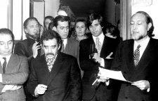 Juan García Hortelano, Carlos Barral, Gabriel García Márquez, Mario Vargas Llosa, Isabel Mirete, Salvador Clotas y J. M. Castellet, 1979. Fotografía cortesía de Planeta de Libros.