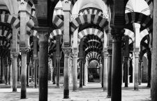 Córdoba, Spain --- Original caption: A Moorish mosque, later converted into a Roman Catholic cathedral, in Cordoba, Spain. The impressive structure was built in 785 A.D. A view of interior columns. Undated photograph. --- Image by © Corbis