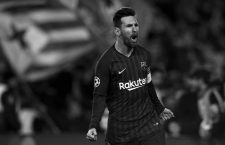 March 13, 2019 - Barcelona, Spain - Lionel Messi of Barcelona celebrates after scoring his sides second goal during the UEFA Champions League Round of 16 Second Leg match between FC Barcelona and Olympique Lyonnais at Nou Camp on March 13, 2019 in Barcelona, Spain. (Credit Image: © Jose Breton/NurPhoto via ZUMA Press)