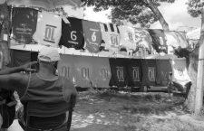 Salvador Bahia, Brazil. Football jersey / T-shirt vendor behind the Mercado Modelo prior to the World Cup 2014.06.05 - Copyright: Al Wayztravelin Credit: Al Wayztravelin/face to face *** Local Caption *** 32128733
