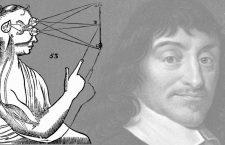 Caronte, ilustrado por Gustave Doré, y retrato de René Descartes. (Más información sobre la imagen al final del texto).