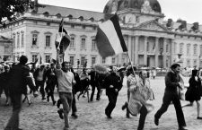 Gaullists demonstrating in front of the military academy. Paris, May 1968. Photograph by Janine Niepce (1921-2007).