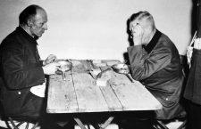 Wilhelm Keitel y Ernst Kaltenbrunner en la prisión de Núremberg, 1946. Foto: Yevgeny Khaldei / Cordon Press.