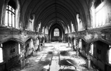 """THIS PICTURE IS 43 of 43 TO ACCOMPANY THE INSIGHT DETROIT/CHURCH. THE SERIES HIGHLIGHTS THE PROBLEMS FACING CATHOLIC CHURCHES IN DETROIT. SEARCH KEYWORD """"CATHOLIC CHURCH DETROIT"""" TO SEE ALL THE IMAGES.  The inside of the abandoned """"Martyrs of Uganda Catholic Church is seen in Detroit December 18, 2011. When a Catholic church closes, the land and buildings go back to the archdiocese. The neighboring parishes can come and take their pick of relics or ecclesiastical equipment. If a new tenant doesn't materialize, criminals sometimes do. Thieves often strip the building of copper or pluck out stained glass. The abandoned Martyrs of Uganda church in Detroit, closed by the Archdiocese in 2006, is an example of this decay. Picture taken December 18, 2011. To match Insight DETROIT/CHURCH   REUTERS/Mark Blinch (UNITED STATES - Tags: RELIGION)CODE: X02025"""