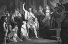 Caractacus at the Tribunal of Claudius at Rome Engraving by Andrew Birrell of a painting by Henry Fuseli